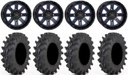 System 3 St-4 14 Wheels Blue 32 Outback Max Tires Can-am Maverick X3