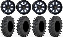 System 3 St-4 14 Wheels Blue 32 Outback Max Tires Kawasaki Teryx Mule