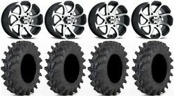 Itp Twister 14 Wheels Machined 32 Outback Max Tires Yamaha Yxz1000r