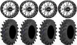 System 3 St-3 Mach 14 Wheels 30x9.5 Outback Max Tires Polaris Rzr Turbo S/rs1