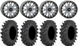 System 3 Sb-4 Grey 4+3 14 Wheels 32 Outback Max Tires Rzr Turbo S / Rs1