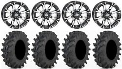 Sti Hd3 14 Wheels Machined 32 Outback Max Tires Polaris Rzr Turbo S / Rs1