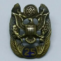 Vintage Us Army 25 Year Service Lapel Pin