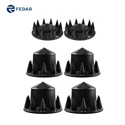 Black Axle Spike Hub Cap Covers With 6 Angle Top Covers