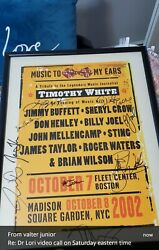 Poster Framed Signed At Madison Square Garden Ny 2002 Tribute To Timothy White