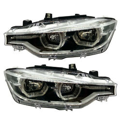 2x New For 12-15 Bmw 3 Series F30 F31 328i Complete Headlight Diode Light Module