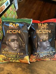 2 New Rap Snacks Icon Notorious B.i.g Cookout Bbq And Honey Jalapeño Ships Free