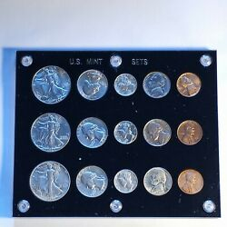 1942 Us Mint Set P S D With Georgeous Nickels Tone. Beautiful