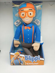 My Buddy Blippi Deluxe Talking 16quot; Feature Plush with Sounds Effects Brand New