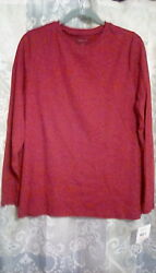 Basic Red Long-sleeve Tee By Relativity - 2x - Nwt
