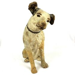 Antique Nipper Dog Rca Paper Mache Store Display Old King Cole Early 1900s 14