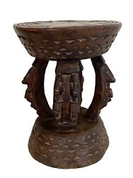 African Dogon Carved Wood Milk Stool Mali 10.25 H