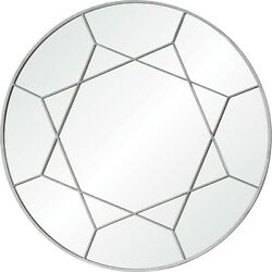 Renwil Lamarr Framed Pure Silver Mirror - Clear - Large 36 Round