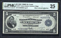 1918 5 Frbn Fr-797 ♚♚st. Louis♚♚ Pmg Vf 25 Very Hard To Find Only 38 Known