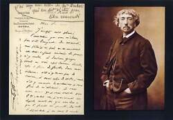 Architect Charles Garnier Autograph, Handwritten Letter Signed And Mounted