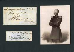 Friedrich Wilhelm Count Of Brandenburg Autograph Signed Clipping Mounted
