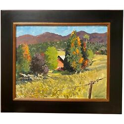 Mike Maclean Impressionist Oil Painting Autumn Landscape-turning Point, Stowe Vt