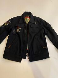 Preowned 490 Diesel Mens Russian Submarine Jacket In Black In Size L