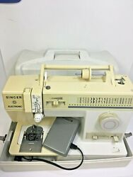 Singer 140th Anniversary Sewing Machine Model 9022 White Heavy Duty , With Cover
