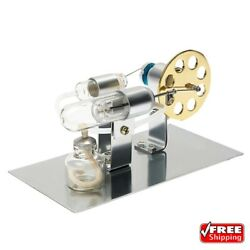 Hot Air Stirling Engine Model Electric Generator Motor Steam Power Education Toy