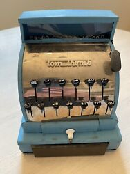 Vintage Blue Tom Thumb Cash Register Toy Western Stamping Co., With Box