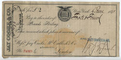1871 Jay Cooke And Co. Bill Of Exchange Rn-c1 And British Revenue [y5476]