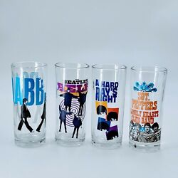 Beatles Drinking Glasses Collectible Set By Apple Corps Ltd. 2012 Set Of 4. Po