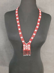 Antique Folk Balkan Bulgarian Womenand039s Decoration Beaded Necklace For Costume