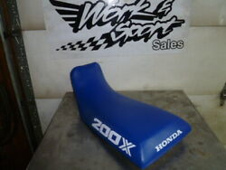 A39 Honda Atc 200x 1985 77100-965-681 Used Seat With New Blue Cover 83 84 85