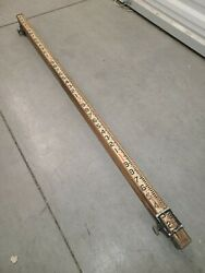 W And L.e. Gurley Survey Transit Measuring Rod N-605 12' Wood And Metal C1900
