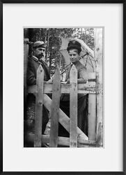 Photo Mr. And Mrs. Philler, Leaning On Gate, Kineo, Moosehead Lake, Maine, Me, Se