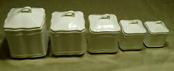 Pavillion Princess House Exclusive Set 5 Fine China Canisters Lids And Seals