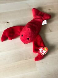 Authentic 1993 Pinchers The Red Lobster Ty Beanie Baby