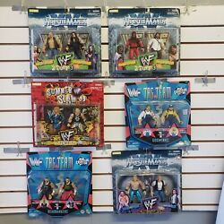 Wwf / Wwe Action Figure Collection 3tag Team2 Packsummer Slam And03999 Jakks
