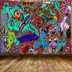 Trippy Large Tapestry Psychedelic Abstract Monster Arabesque Tapestry