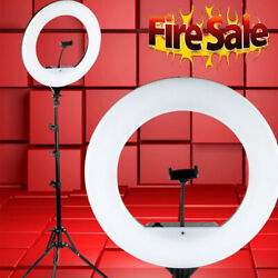 10 18'' Led Smd Ring Light Kit With Stand Dimmable 5500k For Camera Makeup Phone