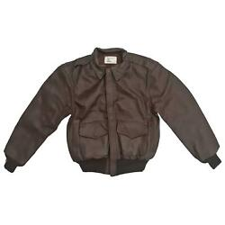 Flight Bomber Jacket A2 Leather Us Air Force Army Military Coat Flyer U.s.a.f