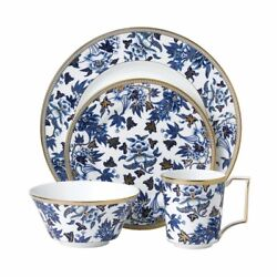 Wedgwood Hibiscus 16 Piece Set, Four 4 Piece Place Setting