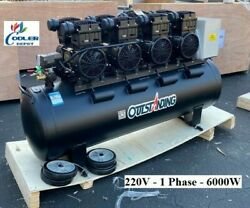 New 9 Hp Ultra Quite Silent Air Compressor Oil Free Electric 220v 1ph 6000w