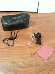 Orascoptic Dental Loupes 3d 2.6x Magnification With Glasses And Case