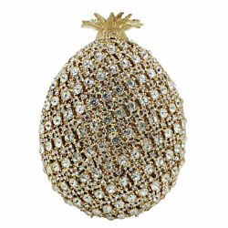Pineapple Crystal Clutch Evening Bags Women Minaudiere Handbags Party Purse $69.99