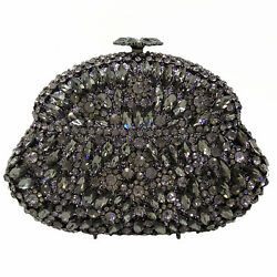 Diamond Flagon Evening Bags Women Clutch Wedding Minaudiere Party Crystal Purses $69.99