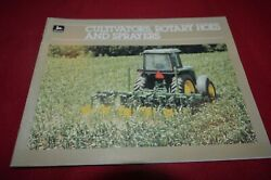 John Deere Cultivators Rotary Hoes And Sprayers For 1985 Brochure Fcca