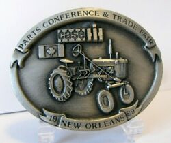 Case Ih Farmall Cub Tractor Pewter Belt Buckle 1989 New Orleans Part Trade Fair