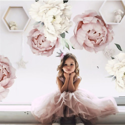 Rose Flowers Wall Stickers for Girls Kids Room Living Room Bedroom Decoration