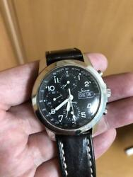 Sinn 103 Chronograph Automatic Leather Day Date Black Dial German Men's Watch