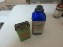 Rx ,drugstore ,old Glass Bottles , Asthmador And Collyrium ,vintage ,collectible