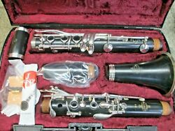 Buffet E12 Bb Clarinet Outfit, Made In Germany, Grenadilla Wood, Ready-to-play