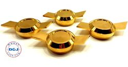 Chevy Type Bowtie Gold Cut Knock-off Spinners For Lowrider Wire Wheels