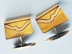 Rare Antique Russian Imperial Yellow And Rose Gold Cufflinks